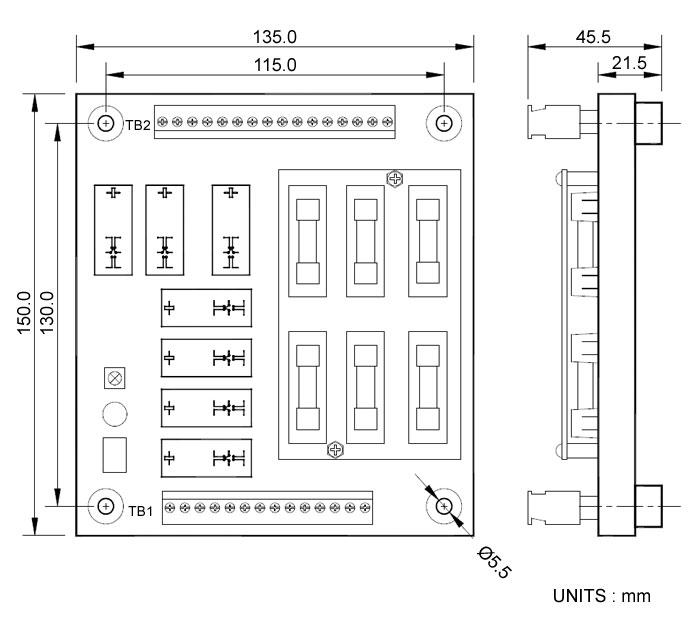 采用可插拔式欧式端子连接切换开关与控制模组     采电路板设计